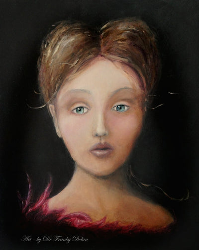 """Young Lady Royal"" Museum-Wrapped Hand-Embellished Replicas on Stretched Canvas by Dr Franky Dolan"