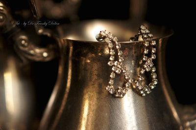 """Antique Rhinestone Earrings"" by Dr Franky Dolan"