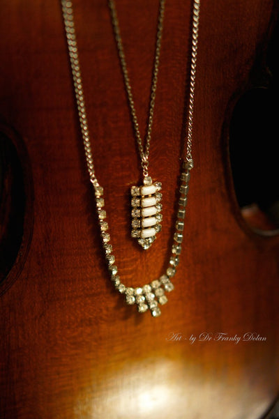 """Art Deco Multi-Strand Necklace"" by Dr Franky Dolan"
