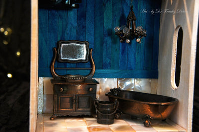 """Washroom"" Music Box Diorama By Dr Franky Dolan"