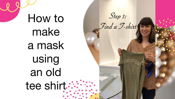 How to make a mask for an old tee shirt