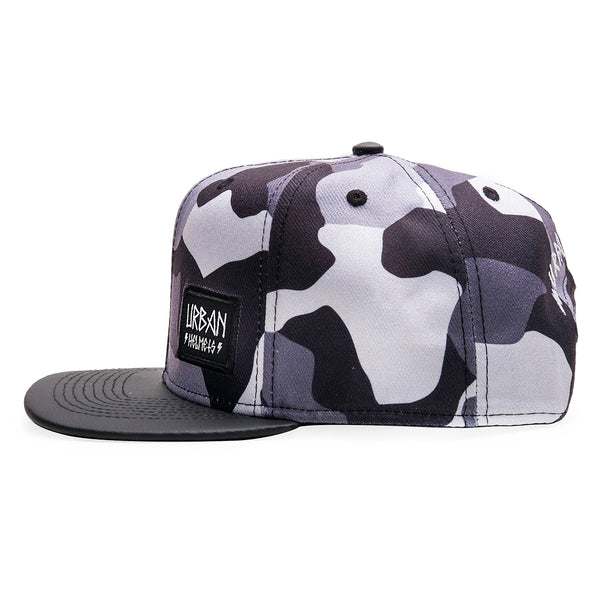 Urban Camo Patch Snapback Hat