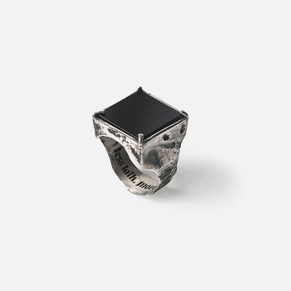 Urban Black 23. 950 Silver Ring