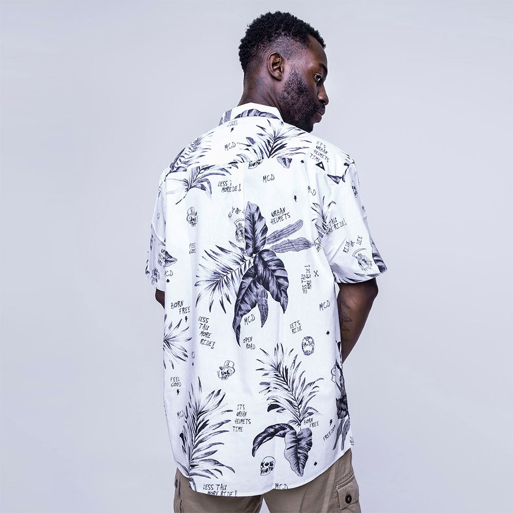 Urban x MCD - Short Sleeve Button-Down Shirt White