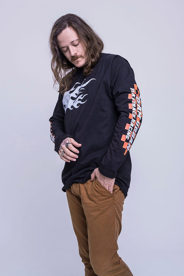 Urban Long Sleeve Fire Skull