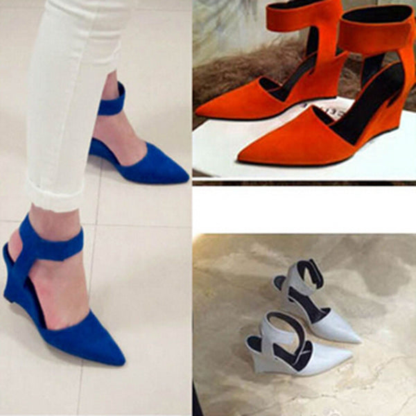 Fashion Brand Ankle Pointed Toe Pumps Sexy Sandals High Heels