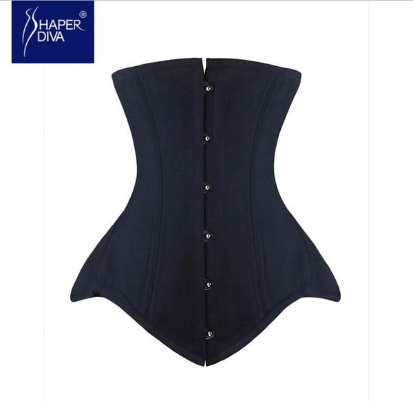Shaper Women Double Steel Boned Corset Waist Corset Slimming Waist Control