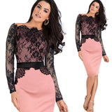 Women Elegant Pinup Vintage Retro Lace Off Shoulder
