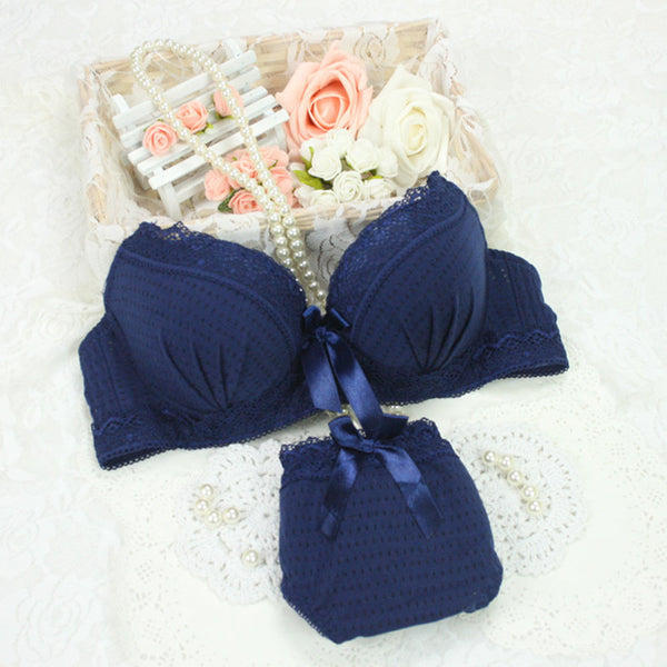 New Women Underwear Set Cotton Bra Panties