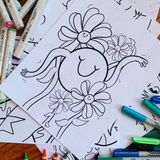 COLOR ME HAPPY | Coloring pages