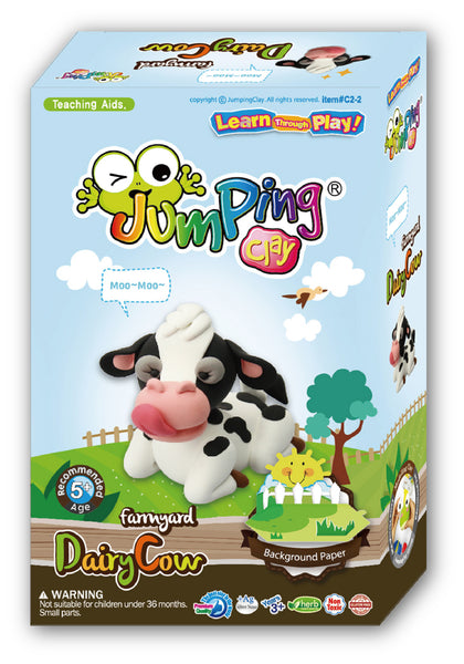 cow clay modelling kit jumpingclayclub
