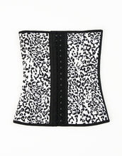 Load image into Gallery viewer, White leopard print traditional waist trainer