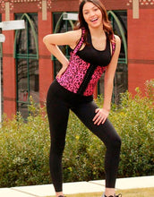 Load image into Gallery viewer, Pink leopard full back vest waist trainer