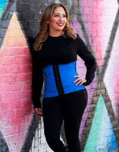 Load image into Gallery viewer, Cobalt blue sport latex waist trainer