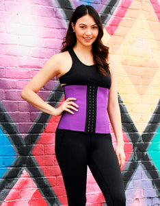 Purple sport latex waist trainer
