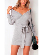 Load image into Gallery viewer, Janet pencil mini sweater dress