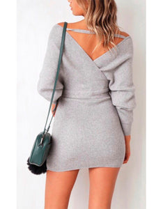 Janet pencil mini sweater dress