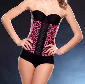 Pink leopard print traditional waist trainer