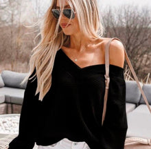 Load image into Gallery viewer, Abby cold shoulder sweater