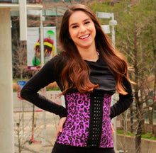 Load image into Gallery viewer, Purple leopard print traditional waist trainer
