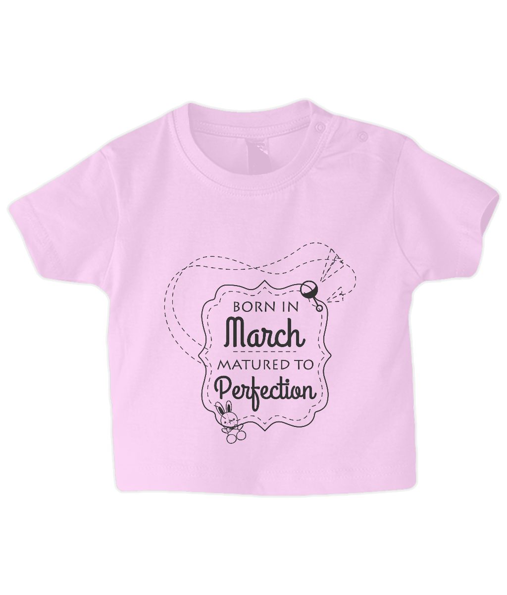 Nappytastic Baby/Toddler T-Shirt Born In March