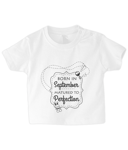 Nappytastic Baby/Toddler Born in September T-Shirt