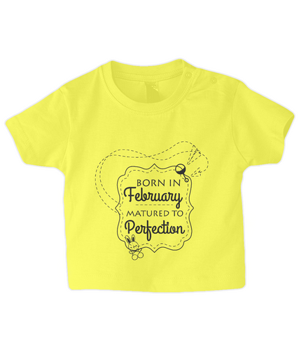 Nappytastic Baby/Toddler T-Shirt Born In February