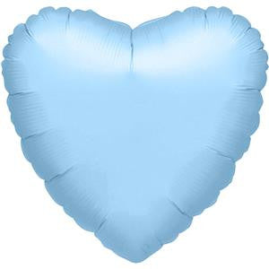 Metallic Pearl Pastel Blue Heart Balloon - 32