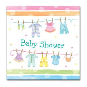 Baby Shower Paper Luncheon Napkins 3ply