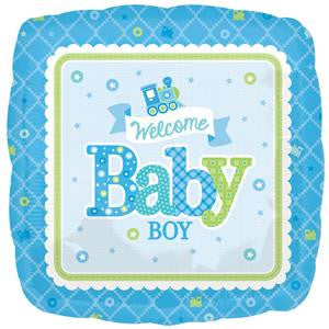 Welcome Baby Boy Balloon - 18