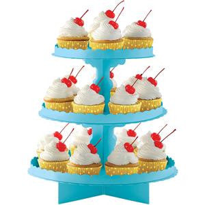 Caribbean Blue Cupcake Stand