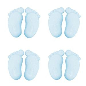 Blue Baby Feet Sugar Toppers - Cake Decorations