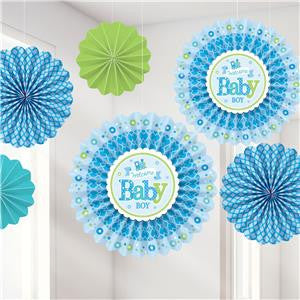 Welcome Baby Boy Fan Decorations