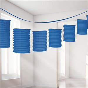 Royal Blue Paper Lantern Garland Decoration - 3.7m