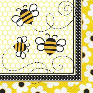 Busy Bees Paper Luncheon Napkins 2ply