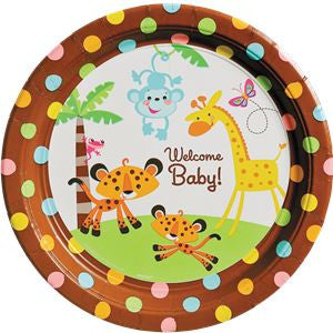 Fisher Price Baby Shower Plates - 26cm Paper Party Plates
