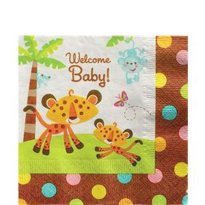 Fisher Price Baby Shower Napkins - 2ply Paper