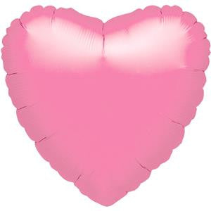 Metallic Pink Heart Balloon - 18'' Foil - unpackaged