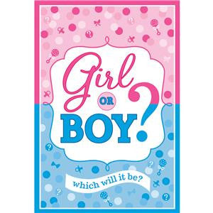 Gender Reveal Invitations and Envelopes