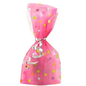 Pink Dotty Cellophane Party Bags