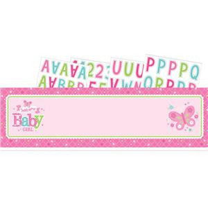 Welcome Baby Girl Giant Personalised Banner