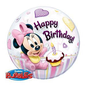 Minnie Mouse 1st Birthday Bubble Balloon - 22