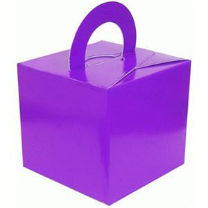Purple Cube Balloon Weight/Favour Boxes - 6.5cm