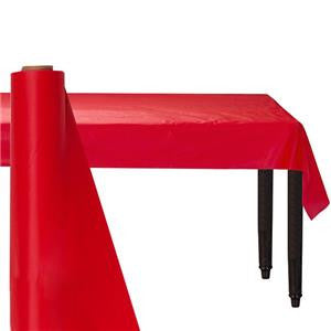 Red Table Roll - 30m Plastic