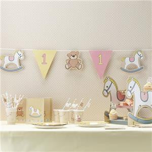 Girl's Rock-a-Bye-Baby 1st Birthday Party Bunting - 3.5m