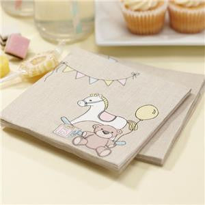Rock A Bye Baby Party Supplies Paper Luncheon Napkins 3ply