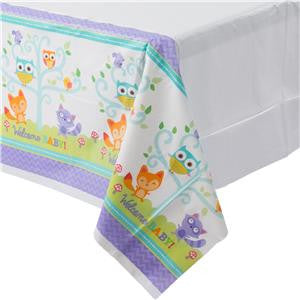 Woodland Baby Plastic Tablecover - 1.37m x 2.59m