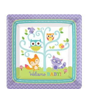 Woodland Baby Plates - 17cm Paper Party Plates