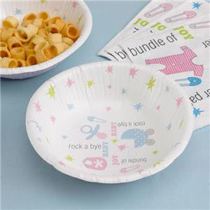 Tiny Feet Baby Shower Paper Bowls