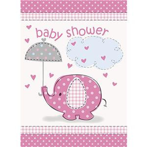 Umbrellaphants Pink Party Invitation Cards